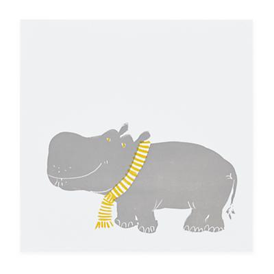 Prints of the Jungle Wall Art (Hippo)