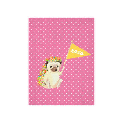 #1 Fan Hedgehog Canvas Wall Art - #1 Fan Wall Hedgehog Wall Art