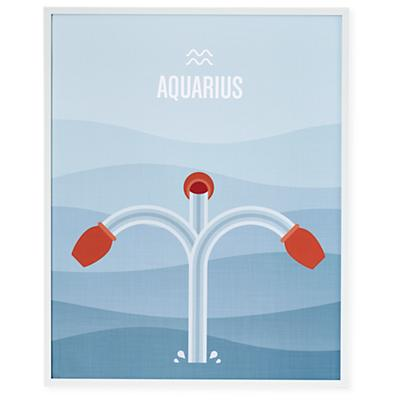 What's Your Sign Framed Wall Art (Aquarius)
