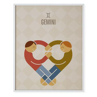 What's Your Sign Framed Wall Art (Gemini)