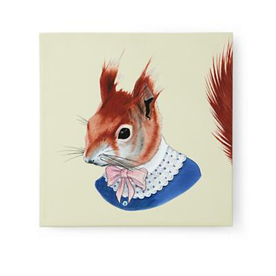 Red Squirrel Head Portrait