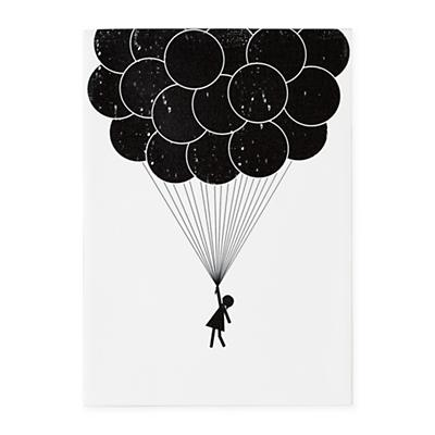 Print Noir Wall Art (Balloon)