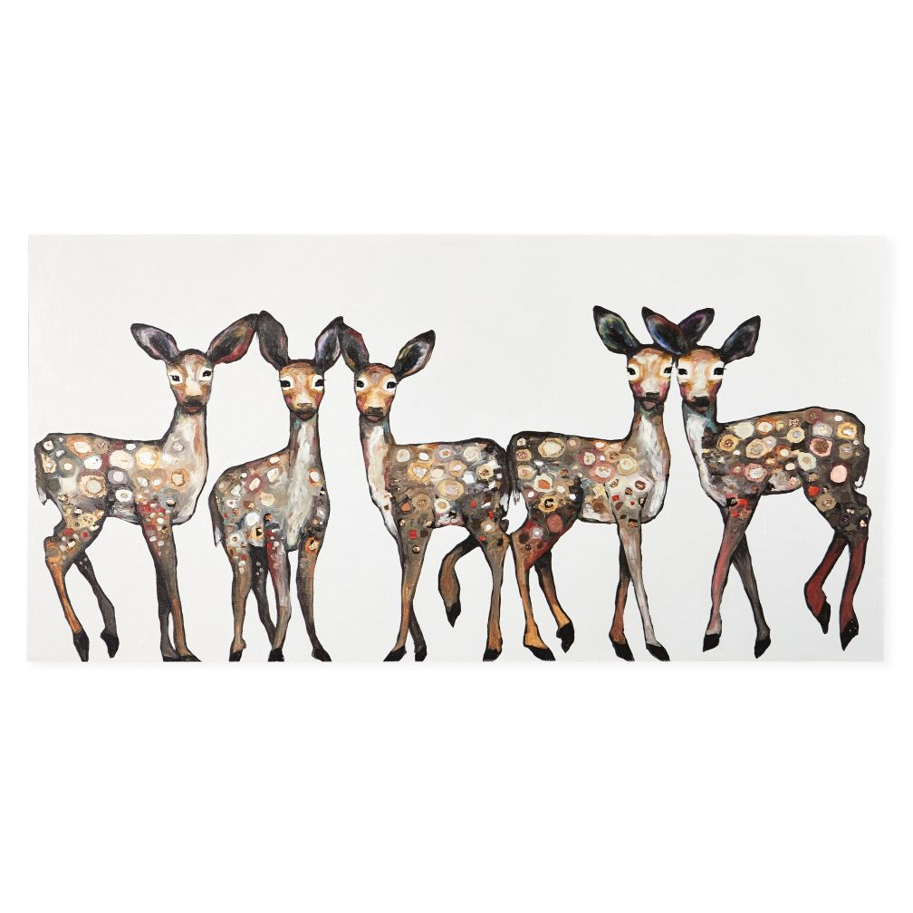 Oh Deer Canvas Wall Art The Land Of Nod