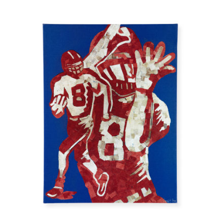 Kids Art Prints: Jones & Eggy Football Wall Art - Home Team Football Wall Art