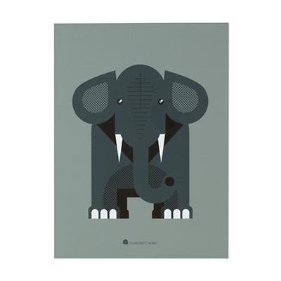 Unframed Modern Menagerie Wall Art (Elephant)