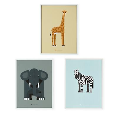 Modern Menagerie Animal Wall Art (Set of 3)