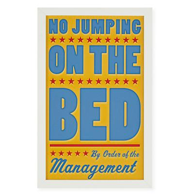 No Jumping on the Bed Framed Wall Art