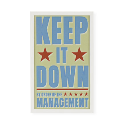 Kids Wall Art: Kids Keep It Down Wall Art - Framed Keep It Down Wall Art