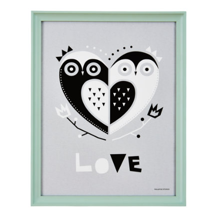Owl Heart Wall Art - Framed Owl Heart Wall Art
