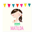 Brown Hair Girl Personalized Wall Art