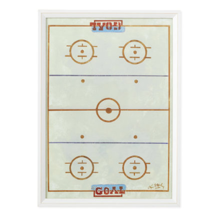 Hockey Rink Framed Wall Art - Framed Power Play Hockey Wall Art