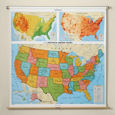 Wall Mounted USA Map