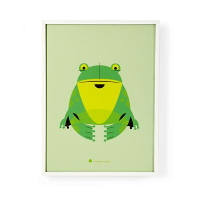 Modern Menagerie Framed Wall Art (Frog)