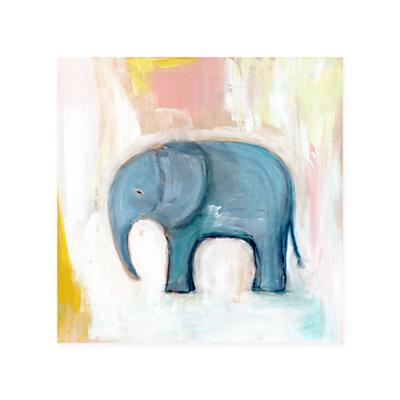 Wild Watercolor Canvas Wall Art (Elephant)