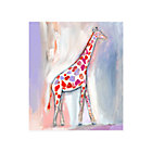 Giraffe Wild Watercolor Wall Art
