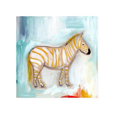 Wild Watercolor Canvas Wall Art (Zebra)
