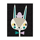 Bunny Bebop Canvas Wall Art