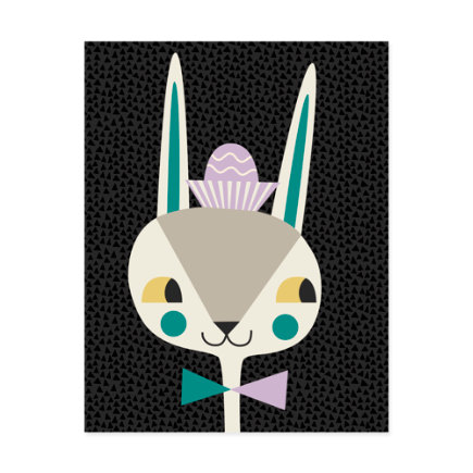 Modern Bunny Canvas Wall Art - Bunny Bebop Canvas Wall Art