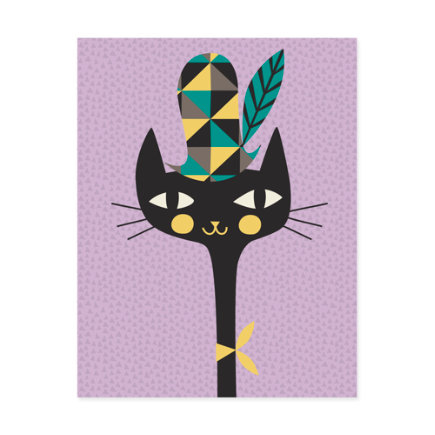 Modern Cat Canvas Wall Art - Kitty Bebop Canvas Wall Art