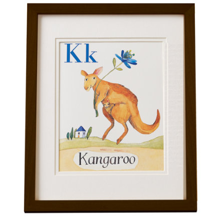 Kids Wall Cards & Hanging Decor: Kids Wooden Wall Card Frames - Espresso Frame Job Wall Frame