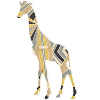 Large Flashy Forest Giraffe Wall Hook (Blue/Yellow)