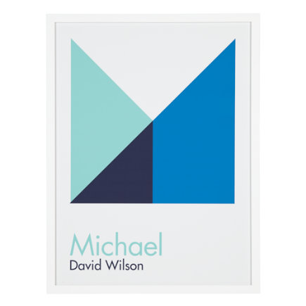Personalized Blue Abstract Wall Art - Blue Personalized Abstract Wall Art