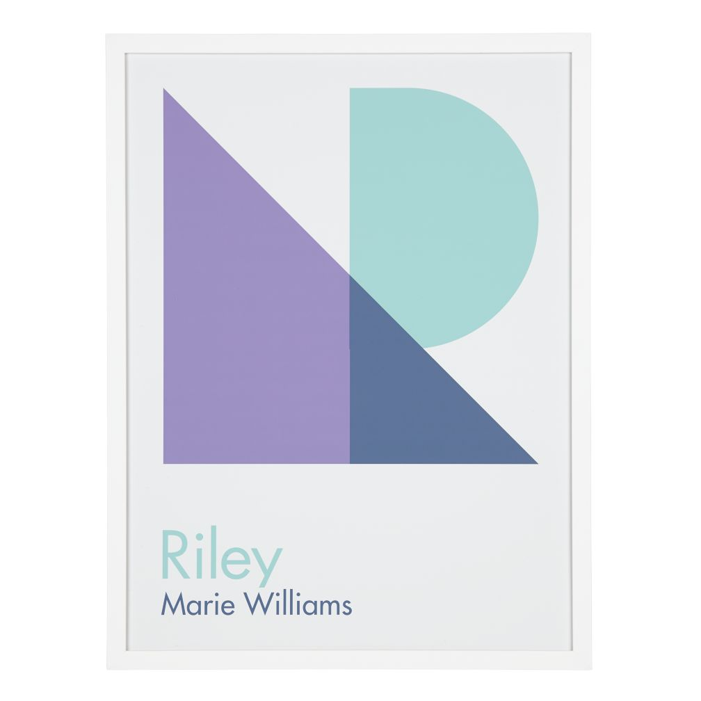 Personalized Abstract Wall Art (Purple)