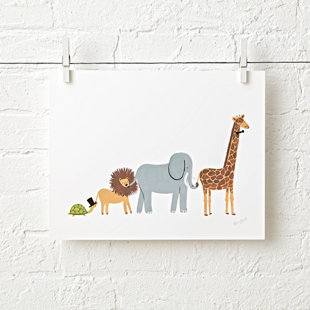 Animal Parade Unframed Wall Art