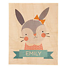 Personalized Young & Wild Bunny Wall Art