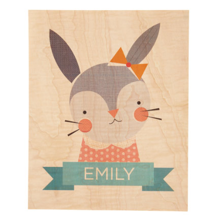 Young & Wild Rabbit Personalized Wall Art - Personalized Young & Wild Bunny Wall Art