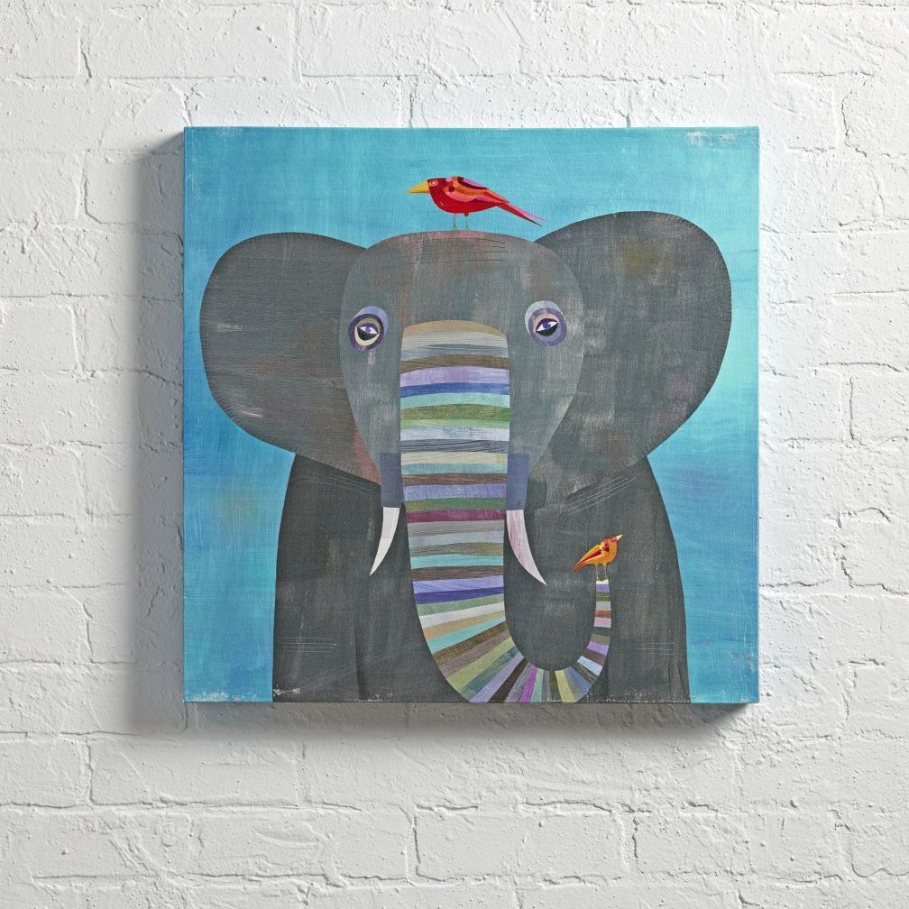 Elephant Colorful Wall Art