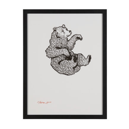 Falling Bear Wall Art - Falling Bear Framed Wall Art