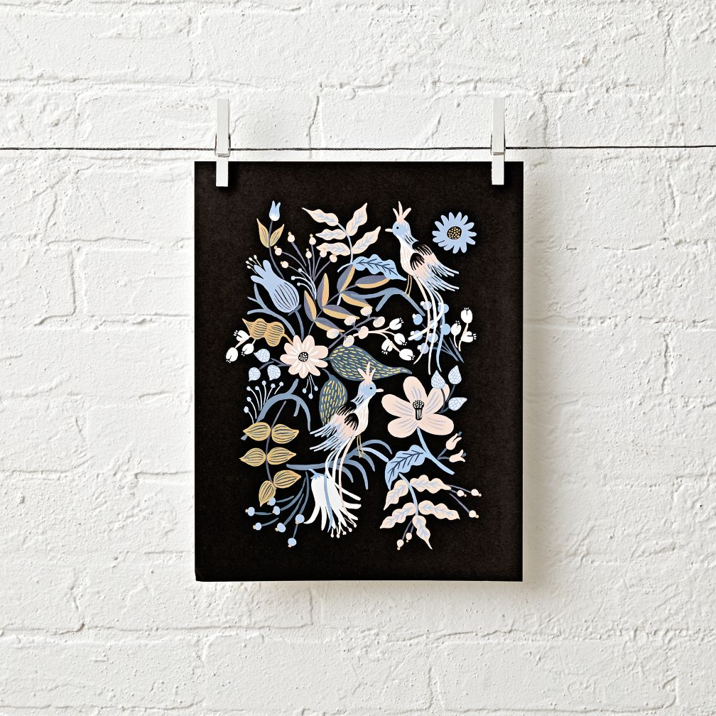 Feathered Folk Unframed Wall Art