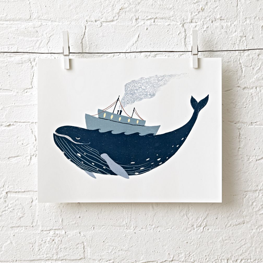 Harbor Humpback Unframed Wall Art
