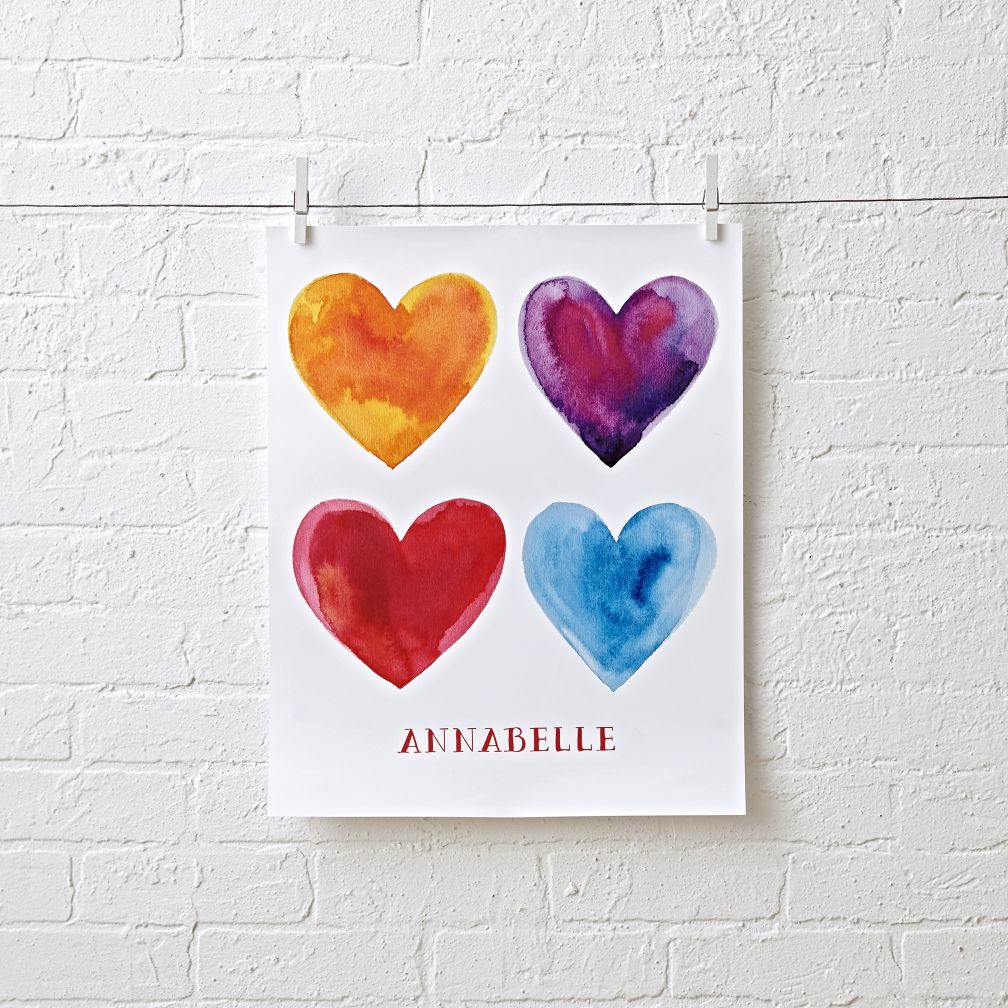 Personalized Hearts Wall Art
