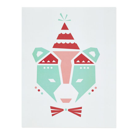 Circus Bear Unframed Nod Institute of Art Print