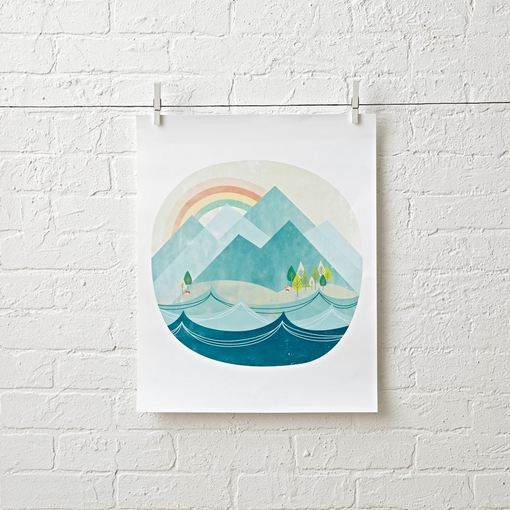 Land and Sea Unframed Wall Art