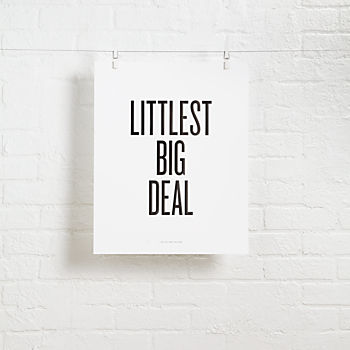 Littlest Big Deal Foil Stamped Wall Art