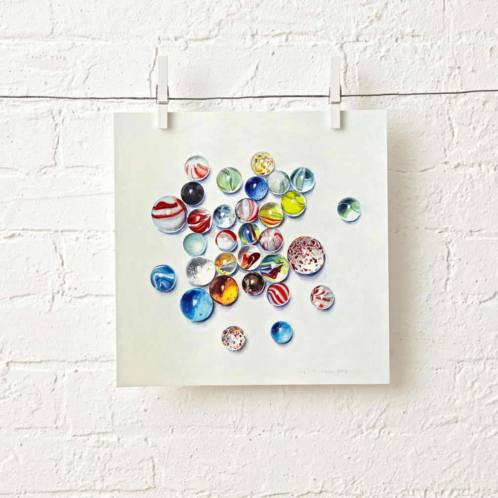 Marbles Unframed Wall Art