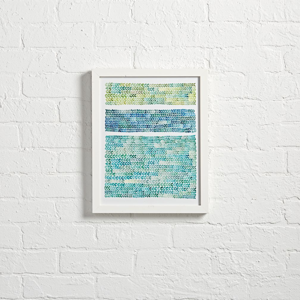 Watercolor Knit Wall Art