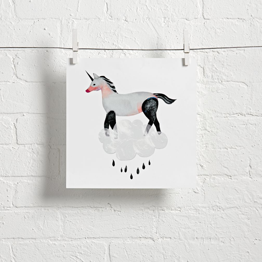 Unicorn Cloud Wall Art