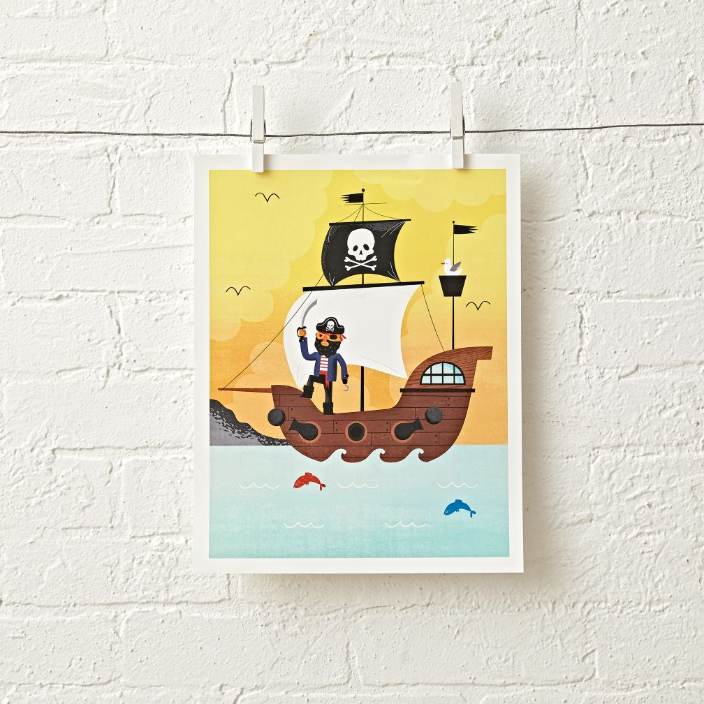 Yellow Pirate Unframed Wall Art