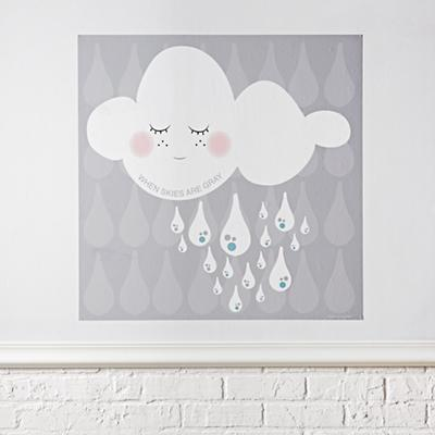 When Skies Are Grey Poster Decal
