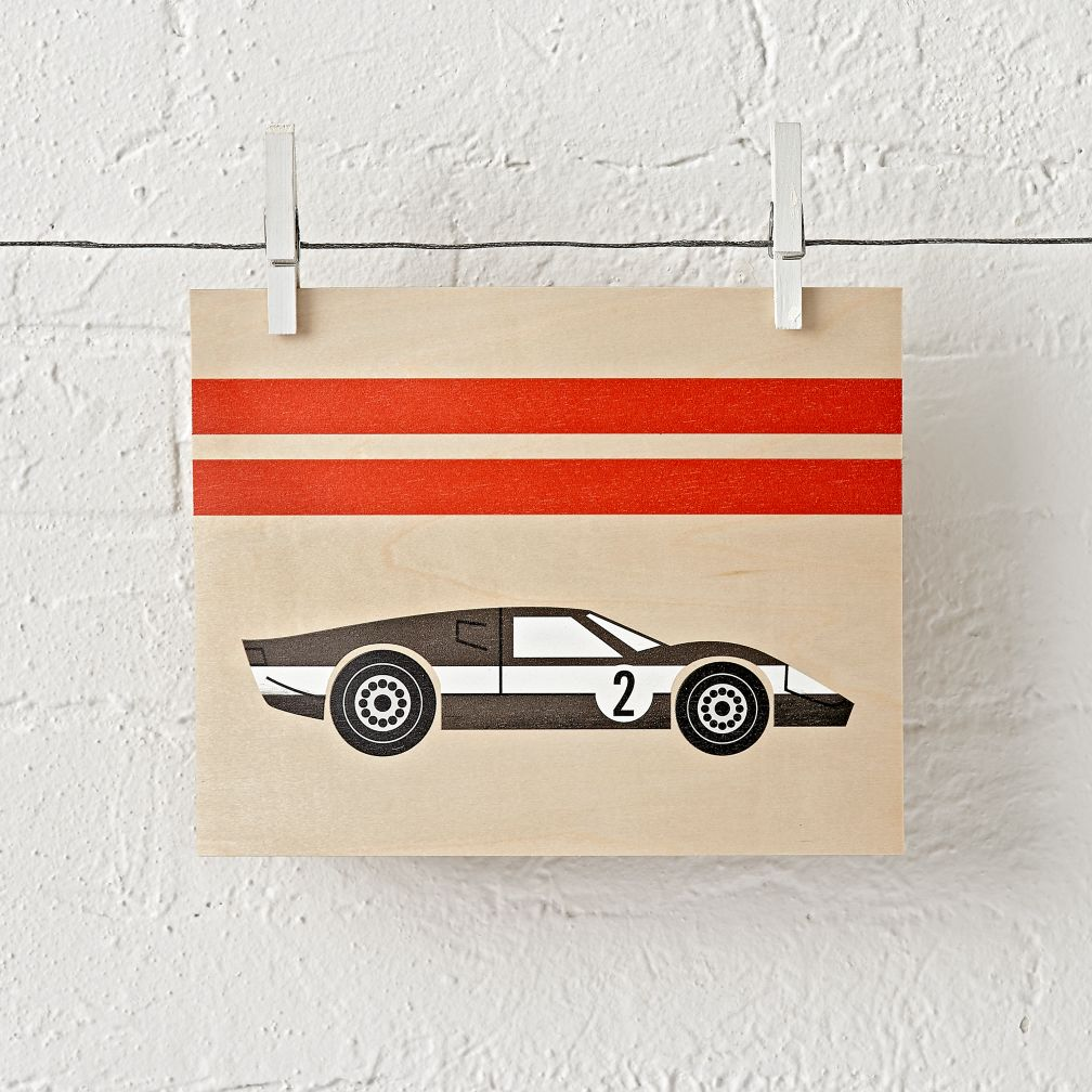 Racecar Unframed Wall Art