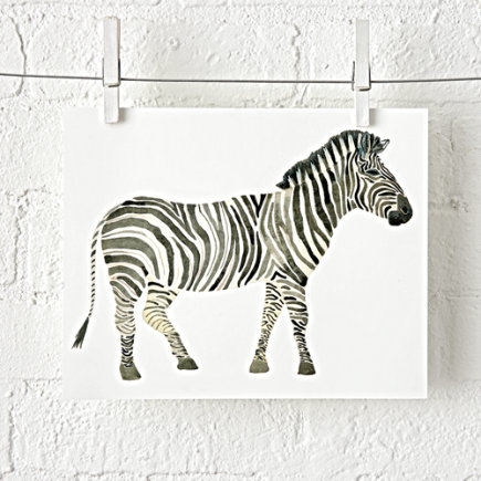- Zebra Safari Unframed Wall Art