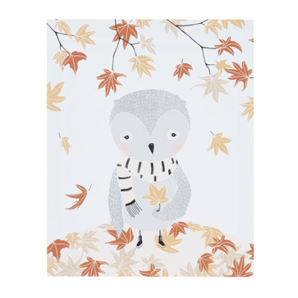 Fall Owl Seasons Unframed Wall Art
