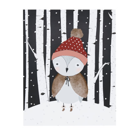 Winter Owl Seasons Unframed Wall Art