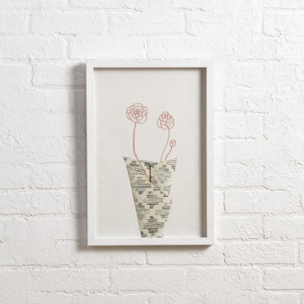 Still Life Wall Art (Pink) - Pink Still Life Wall Art