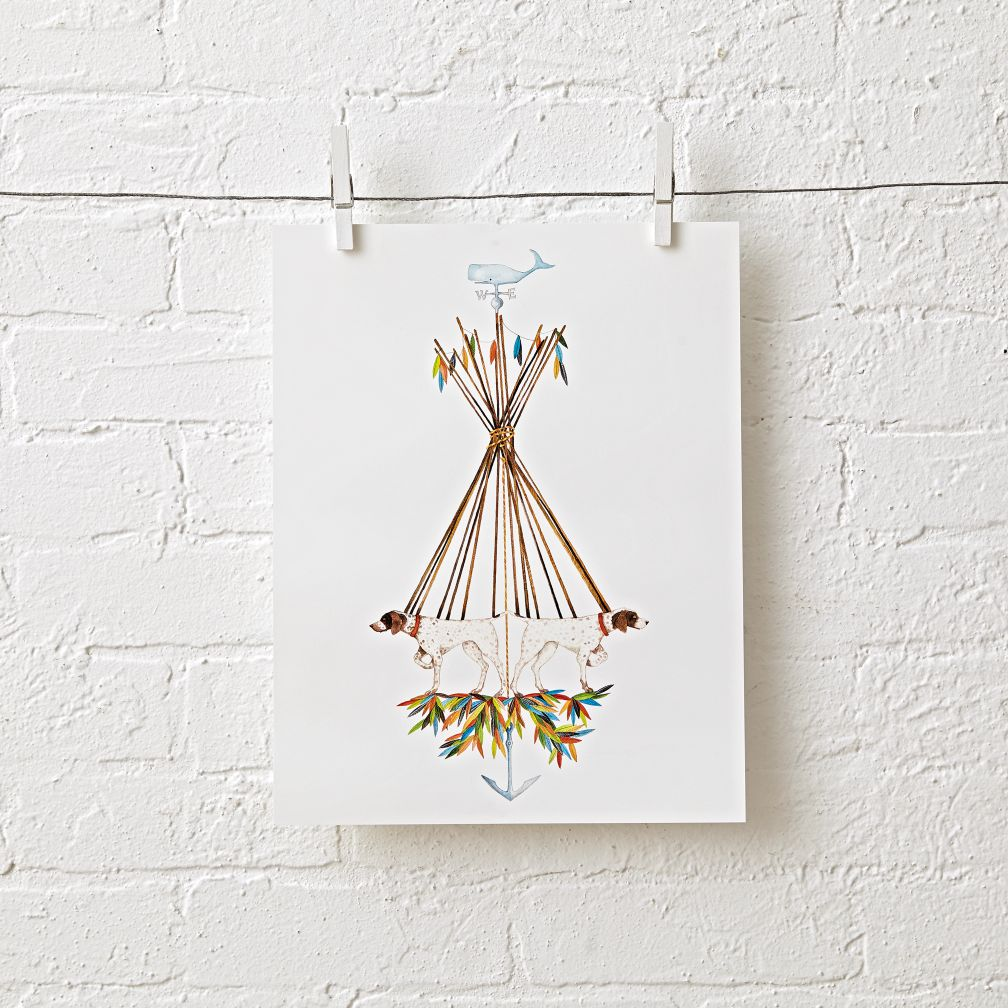Teepee Trail Unframed Wall Art