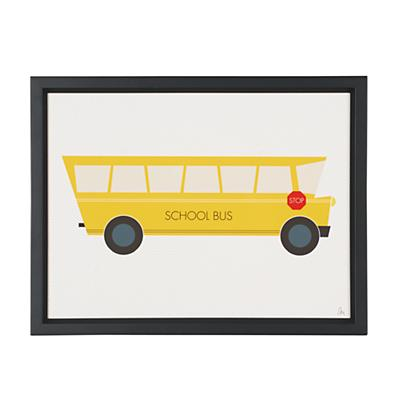 Time to Ride Wall Art (School Bus)